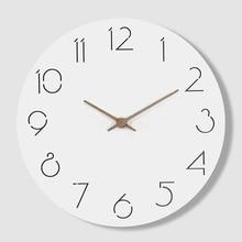 Creative Simple Modern Watch Wall Clock Kitchen Designs Wood Beautiful Unique Saat Wandklok Clocks Home Decor 50K585