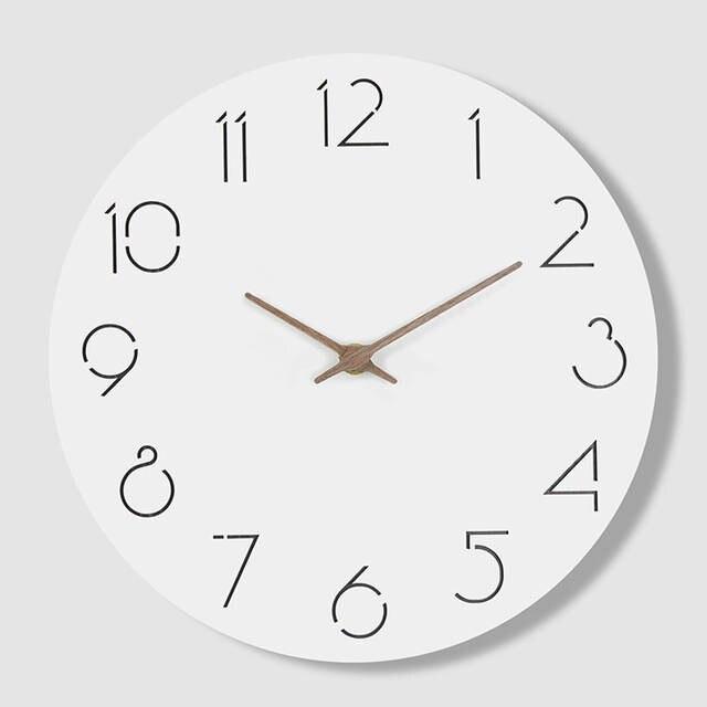 US $25.74 50% OFF Creative Simple Modern Watch Wall Clock Kitchen Modern  Designs Wood Beautiful Unique Saat Wandklok Wall Clocks Home Decor  50K585-in ...