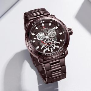 Image 2 - NAVIFORCE homme montre 2019 Top luxe marque nouvelle mode qualité en acier inoxydable militaire Sports hommes montres étanche bracelet