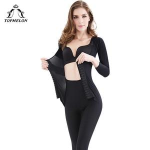 Image 3 - TOPMELON Long Body Shaper Womens Binders and Shapers Slimming Shapewear Full Length Plus Size Bodysuit for Women S 3XL