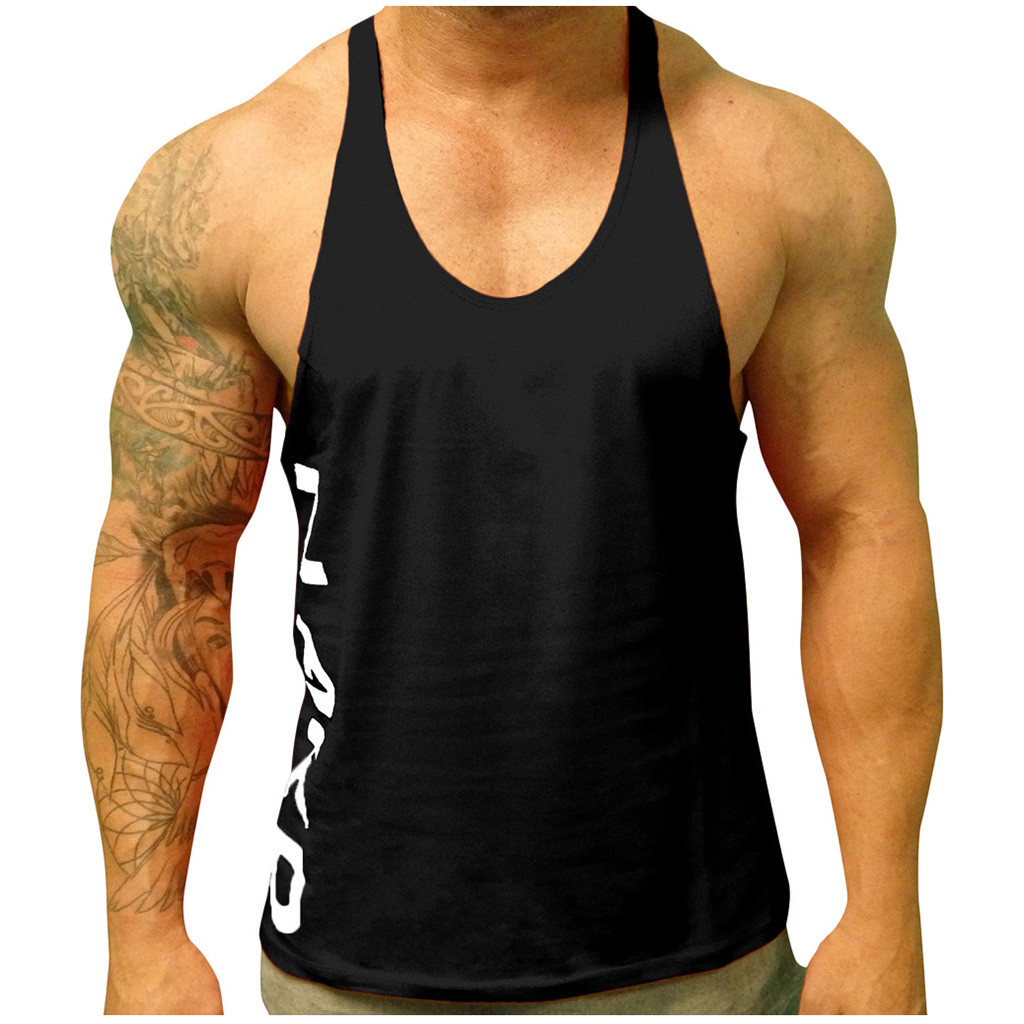 Men Bodybuilding   Tank     top   Gyms Workout Fitness Sleeveless shirt Crossfit clothing Golds Singlet male Casual Vest   tank     top