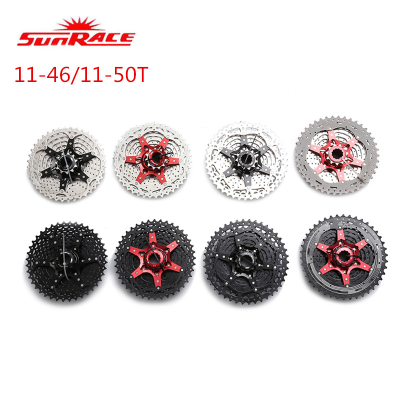 SunRace CSMS8 CSMX8 11 Speed Mountain Bike Bicycle MTB Cassette Flywheel 11-40T 11-42T 11-46T 11-50T 10-42T bicycle mtb freewheel 11 32t 36t 40t 42t 46t 50t sprockets 8 9 10 11 speed cassette mountain bike flywheel cog