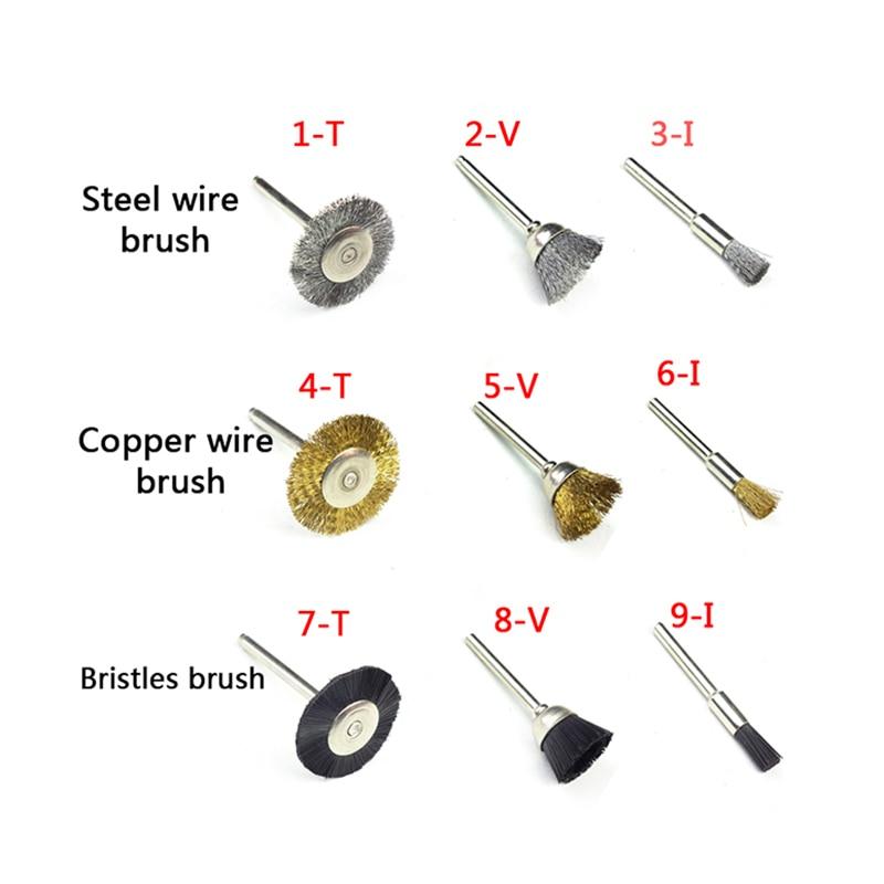 10st staaldraad wielborstel dremel gereedschap accessoires - Schurende gereedschappen - Foto 2