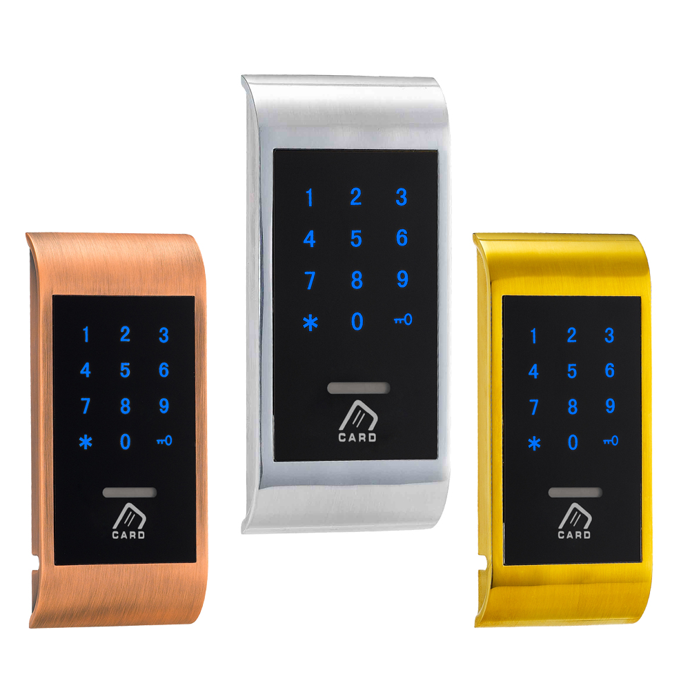 Electronic Private Locker Lock Smart Keyless RFID Card Touch Screen Keypad Digital Cabinet Lock