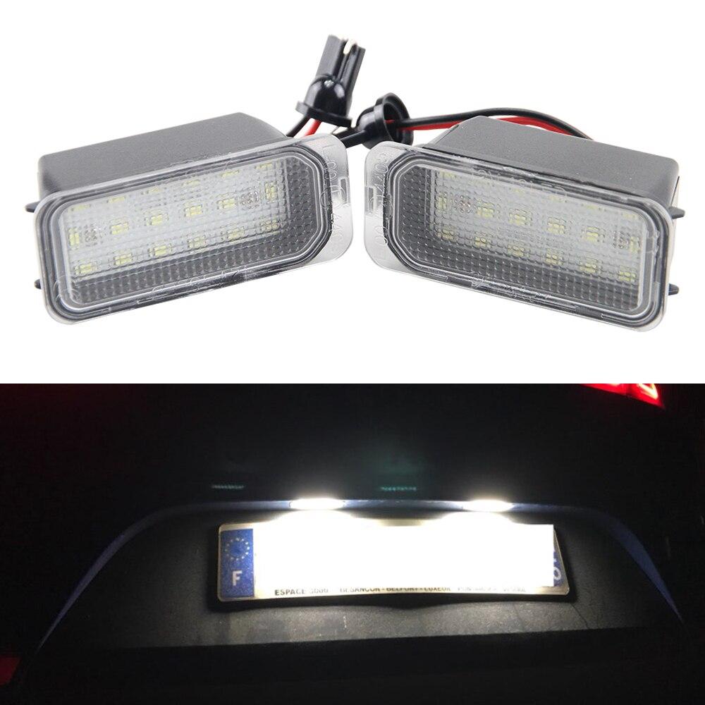 Us 90 10 Off1 Para Led Oświetlenie Tablicy Rejestracyjnej Licencji 18 Smd Lampy Led Wymienić Dla Ford Fiesta S Max Crand C Max Kuga Mondeo Canbus