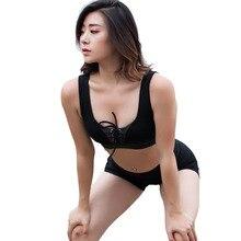 Women Padded Wirefree Shakeproof Fitness Underwear Quick Dry Push Up Seamless Yoga Running Tops Sports Bra