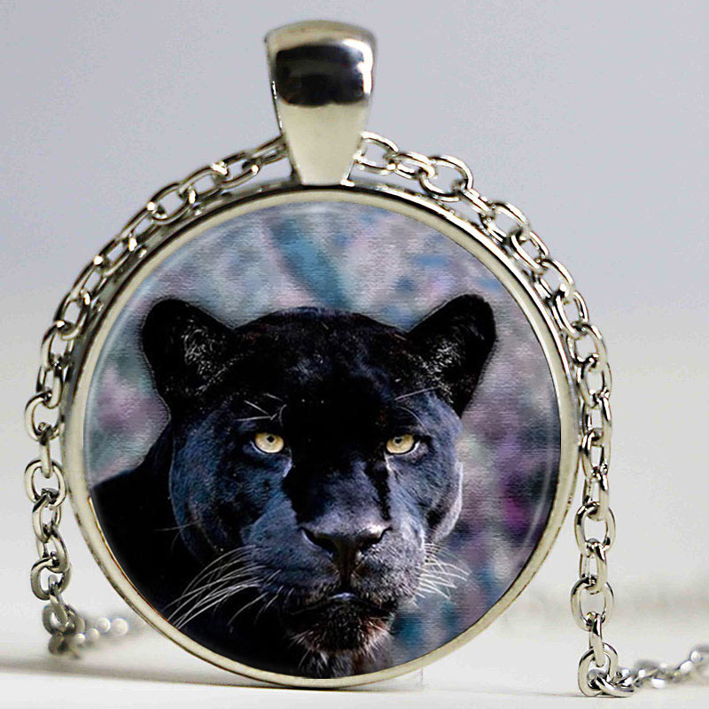Black Panther Necklace Cat pendant Animal Nature Picture Gothic Glasses Pendant Necklaces Gift The the Jungle Book ...