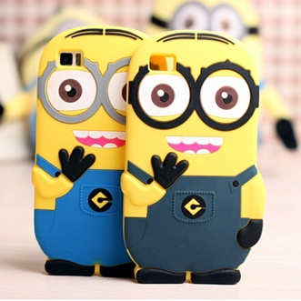 50pcs For Xiaomi 3 MI3 M3 Despicable Me 2 Minions Soft Rubber Silicone  Cover Yellow 3D
