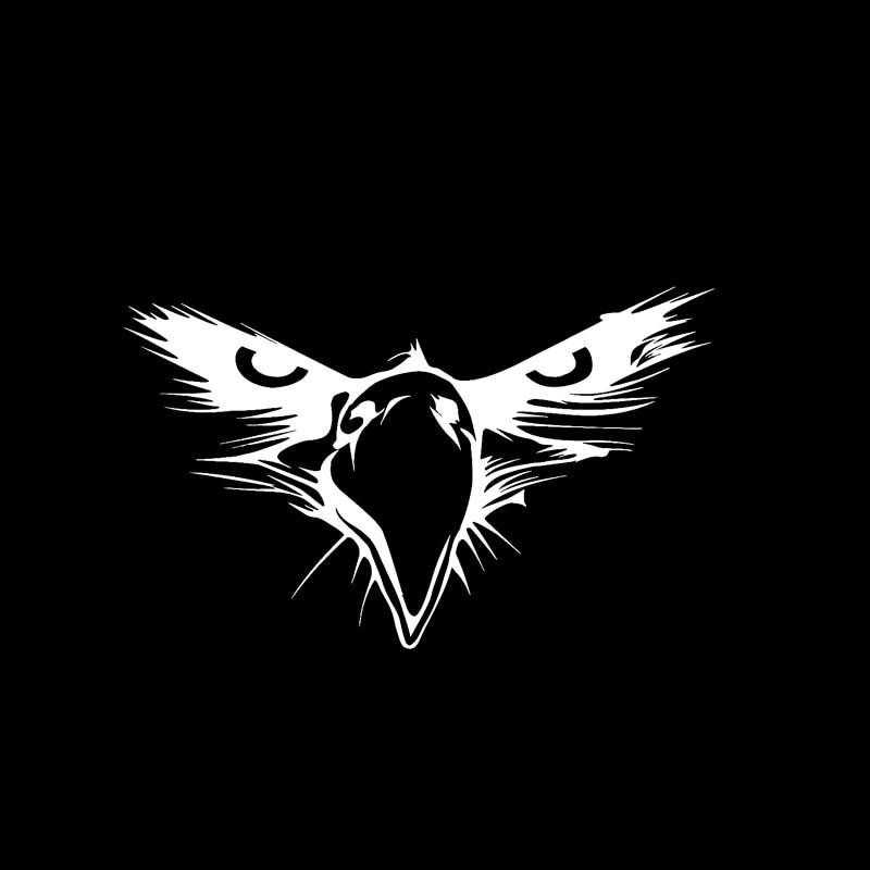 YJZT 15 5CM*9 5CM Personality Bald Eagle American Bird Beak Head Vinyl Car  Sticker Black/Silver Decal C11-1233