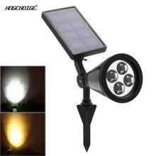 HNGCHOIGE 4 LED Solar Power Spotlight Garden Lawn Lamp Landscape Lights Outdoor Waterproof