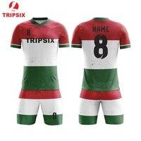 New Design Vertical Stripe Full Sublimation Printing Soccer Team Jersey
