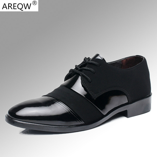 Casual  Shoes Spring Male Autumn Business Suits and Pu Leather Men's Shoes Flat Shoes Work Casual Shoes Pointed Married Men
