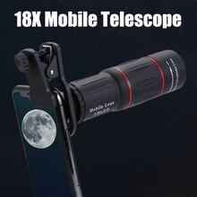 18x25 монокулярное Масштабирование HD оптические Объективы для телефона универсальная съемка наблюдения 18X телефото линзы со штативом для смартфона