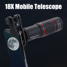 18x25 Monocular Zoom HD Optical Cell Phone Lens Universal Observing Survey 18X Telephoto Lens With Tripod For Smartphone