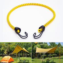 Outdoor Binding Luggage Thickened High Elastic Multi Purpose With Hook Tent Tight Strap Bungee Stretch Rope Adjustable Strong