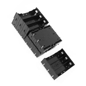 Image 3 - EDT 5 Pcs 검은 플라스틱 3x3.7V 18650 배터리 6 핀 배터리 홀더 케이스
