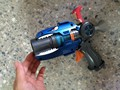 1pcs 22cm Cartoon Anime Slugterra Play Shot Gun Toy with 4 Bullets 1 Slugterra doll, Boy Toy Pistol Gun with