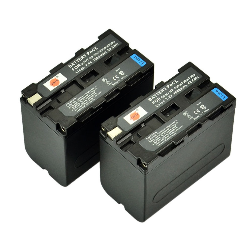 DSTE 2pcs NP-F970 np-f970 Battery for Sony DCR-VX1000 VX2000 VX2100 VX2200E VX700 DSC-CD100 CD250 CD400 D700 D770 Camera