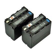 DSTE 2pcs NP F970 np f970 Battery for Sony DCR VX1000 VX2000 VX2100 VX2200E VX700 DSC