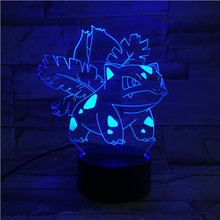Pokemon Go Ivysaur Figure LED Night Lamp for Children Acrylic Indoor Dropshipping Birthday Gift Led Light USB