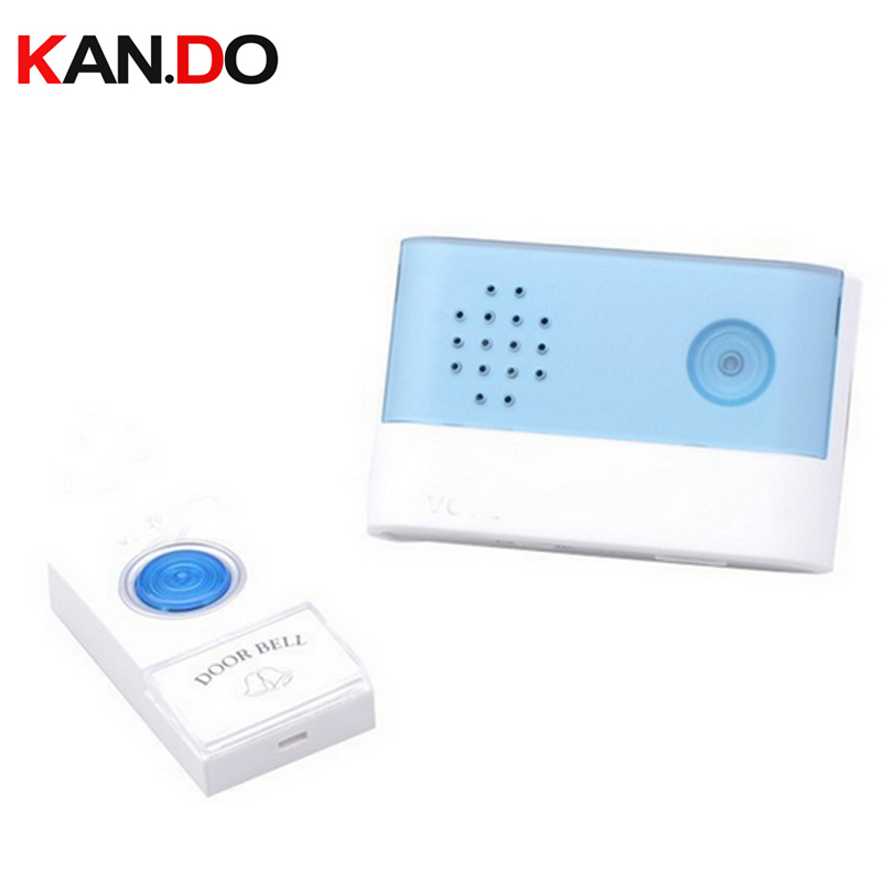 V004A Doorbell With 1 Receiver W/ Battery 23A 12V Receiver Power By AA Battery Wireless Door Bell Doorbell Chime Door Ring