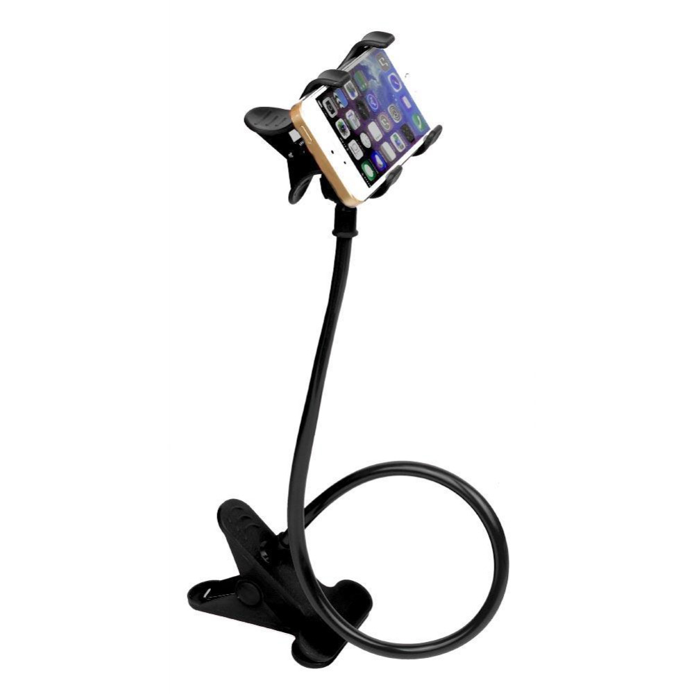 Universal Cell Phone Holder With Flexible Long Arm And Clamp For Bed Car And More 5