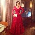Свадебные платья феста красный кружево длинная вечернее платье официальный платья пром платье