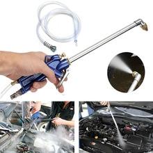Herramienta de limpieza de aceite de motor, 400mm, pistola de limpieza de agua automática para coche, herramienta neumática con manguera de 120cm, piezas de maquinaria, cuidado del motor de aleación