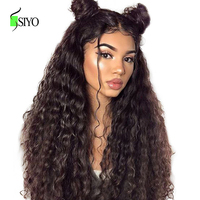 SIYO Lace Frontal Wig Brazilian Water Wave Wig 150 Density 13x4 Lace Front Remy Curly Human Hair Wigs Lace Wig Pre Plucked