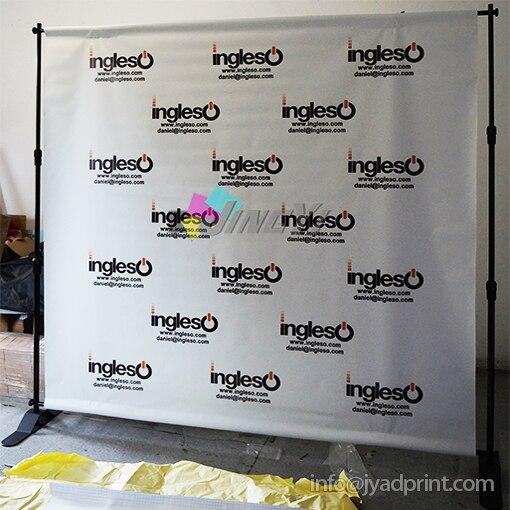 7 * 7ft Регулируемая фон подставка телескопическая Дисплей баннер стенд с печатью ваши произведения