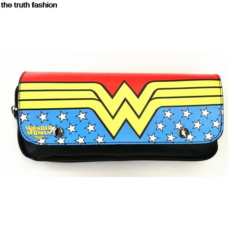 fashion american anime movie Wonder Woman Cosmetic Bags Women Eyebrow Pencil Bags Makeup Bags starwars children gift