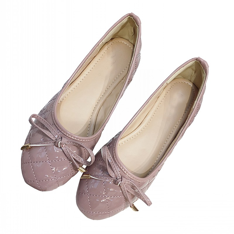 2017 Fashion Pink Bowtie Women's Ballet Flats Shoes Round Toe Shallow Slip On Comfortable Ladies Boat Shoes Women Casual Loafers