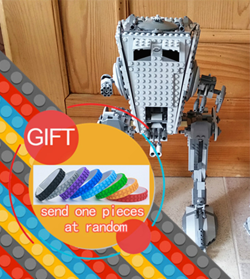 05052 1068Pcs Star Classic Series Wars The Empire AT Model ST Robot Set Building Blocks Toys Compatible with 10174 lepin gonlei in stock 05052 1068pcs new star war series the empire at st robot building blocks bricks set toys 10174