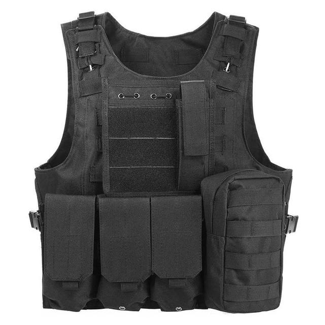 1PC Tactical Vest Mens Tactical Hunting Vest Military Field Airsoft Molle Combat Assault Plate Carrier CS Outdoor Jungle 1