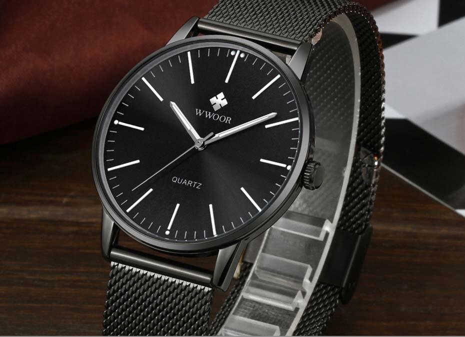 WWOOR 2019  Mens Watches Top Brand Luxury Gold Men\'s Minimalist Wrist Watches Ultra Thin Gift Watch For Men relogio masculino (10)