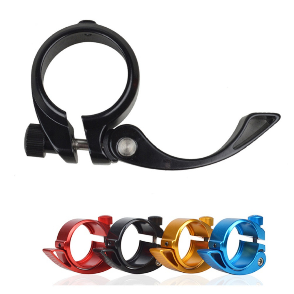 34.9mm MTB Bicycle Seat Post Clamp Metal Quick Release QR Style Universal