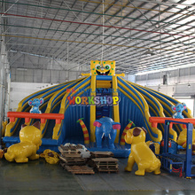 Cartoon inflatable water slide Inflatable water park products for Sale