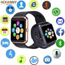 Купить с кэшбэком HIXANNY Smart Watch Women Men Kids Watch Phone SIM Card Camera Clock Bluetooth Waterproof Smartwatch Connect Android IOS PK A1