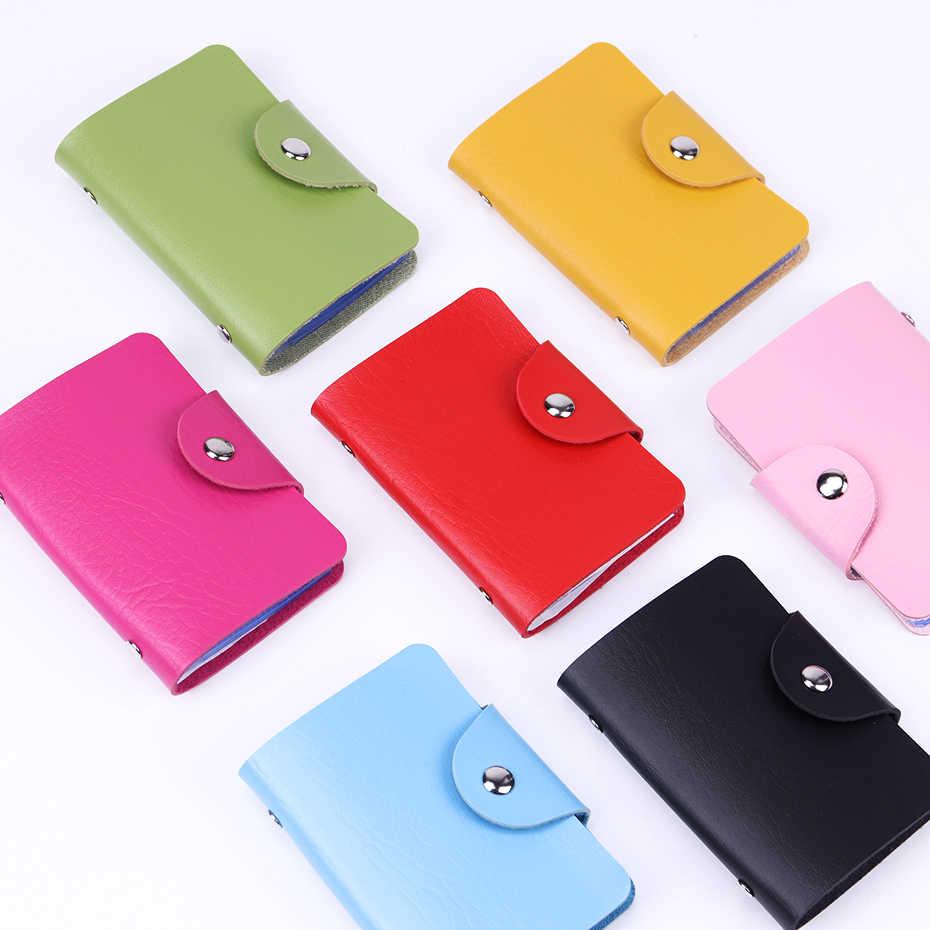 12 ranuras para tarjetas Color caramelo doble cara plástico tarjetero cartera tamaño pequeño Multicolor Paquete de Negocios Bus 7 tarjetas de Color bolsa