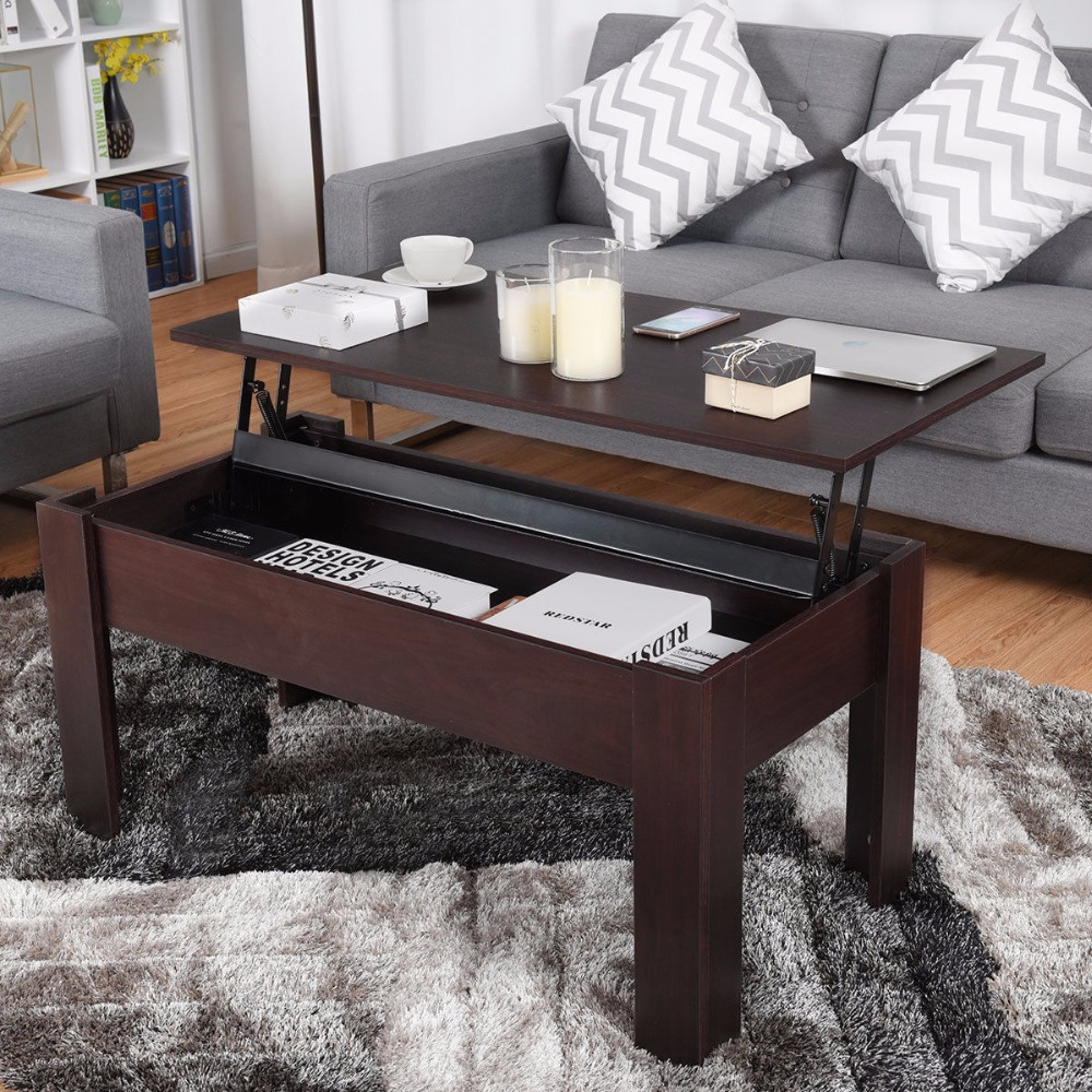 Giantex modern lift top coffee table hidden compartment lift tabletop home furniture living room furniture hw58276