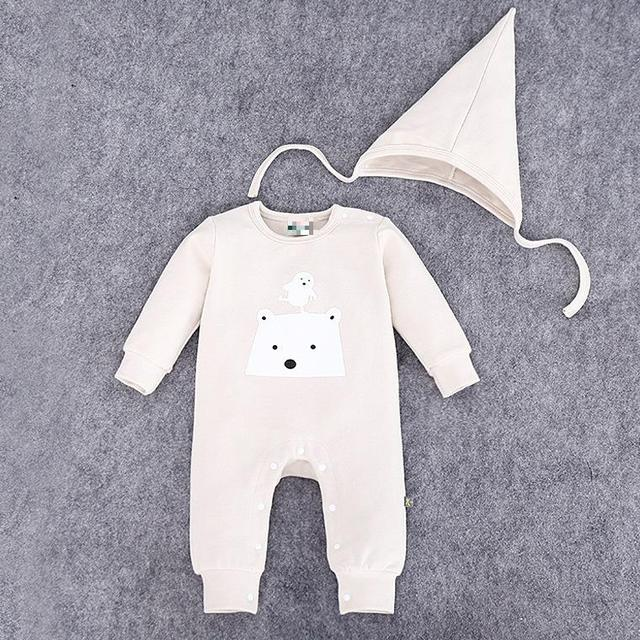 8b1100b7d Children Romper Pointy Hat Long-sleeved Clothes For Boys And Girls Organic  Cotton Baby Clothes Gender Neutral Baby Rompeers cute