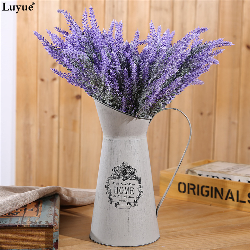 Luyue 6pcs / lot Romantik Buatan Lavender Bunga Perkahwinan Bunga Simulasi Bunga Girl Hadiah Home Party Garden Decorative