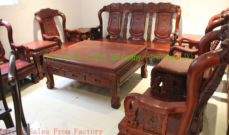 Chinese Classical Mahogany Furniture Rosewood Sofa Living Room Style Tradition Luxurious Table Dining Set Seater Narra