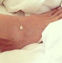 2015 Новая Мода Hewelry Цепи Сексуальная Золото Тон Любовь Сердце Ног Ювелирные Изделия Сердце Ножные Браслеты Для Девушки Женщин XY-B84