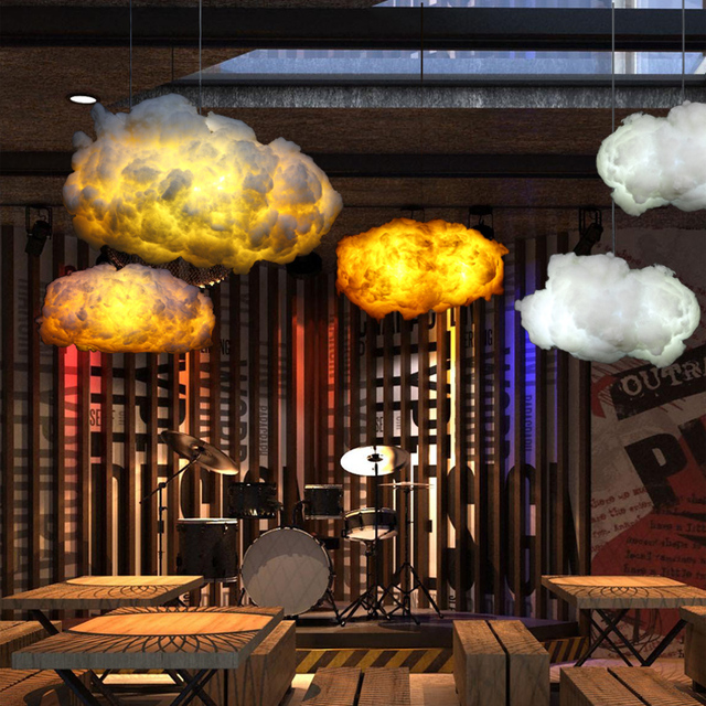 Creative Pendant Lights Modern LED Post Modern Ideas Kung Floating Light  Fixtures Cafe Bar Lamps Decorated