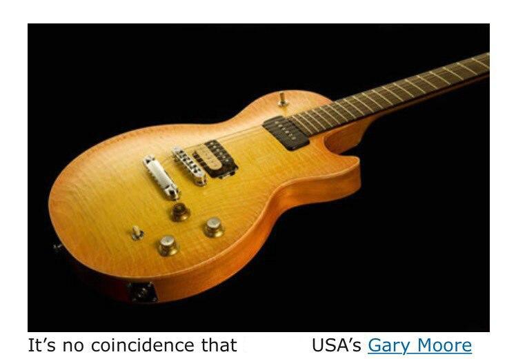 Lemon burst gary moore bfg guitare cs cherry sunburst lp standard shiping libre P90 ramassage zèbre pick up Grover mohogany flame top