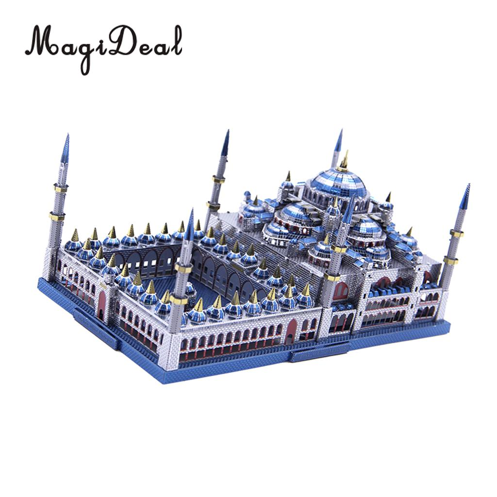 1:680 Scale 229 Pieces 3D Metal Art Sculpture Model Assembly Kits Home Decor -Blue Mosque
