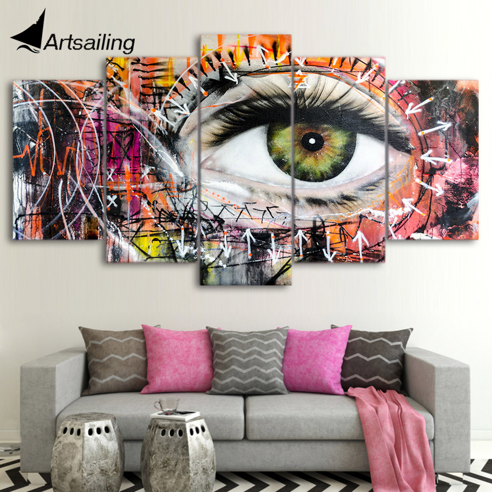 Aliexpress Com Buy Free Shipping 3 Piece Wall Decor: Aliexpress.com : Buy 5 Piece Canvas Art HD Print Abstract