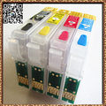 4Pcs, T1281 T1282 T1283 T1284 Refillable Ink Cartridge Compatible for Epson Stylus S22 SX125 SX420W Printers Chip