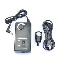 9mm LED Microscope Spot point Light Coaxial Light Sources Adjustable Illuminator Bright Lamp 3W 6500K + AC100~240V Power Adapter